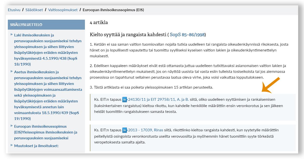 Ihmisoikeussopimuksen EIT-linkit